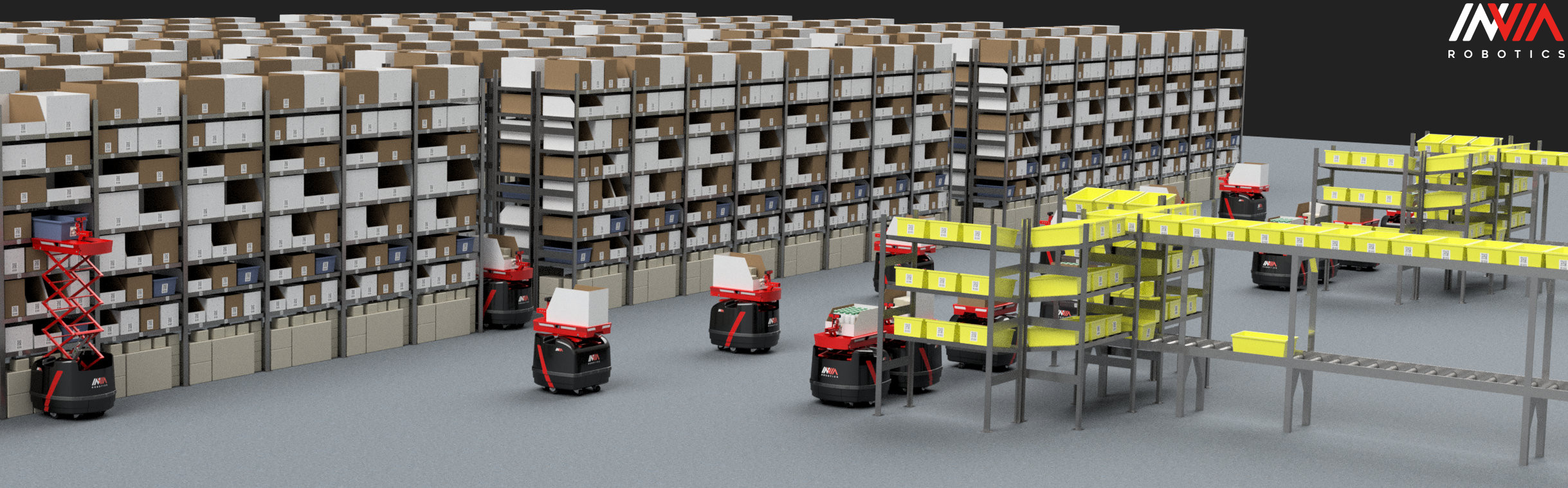 InVia Robotics Releases Goods-to-Person System for Warehouse Automation