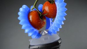 Soft robot grasping is useful for the food and agriculture industries.