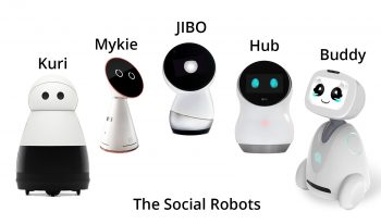 Social robots such as temi and Jibo.