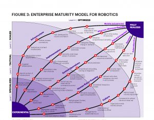 Accenture's maturity model for robotics, as discussed by Nicholas Akiona