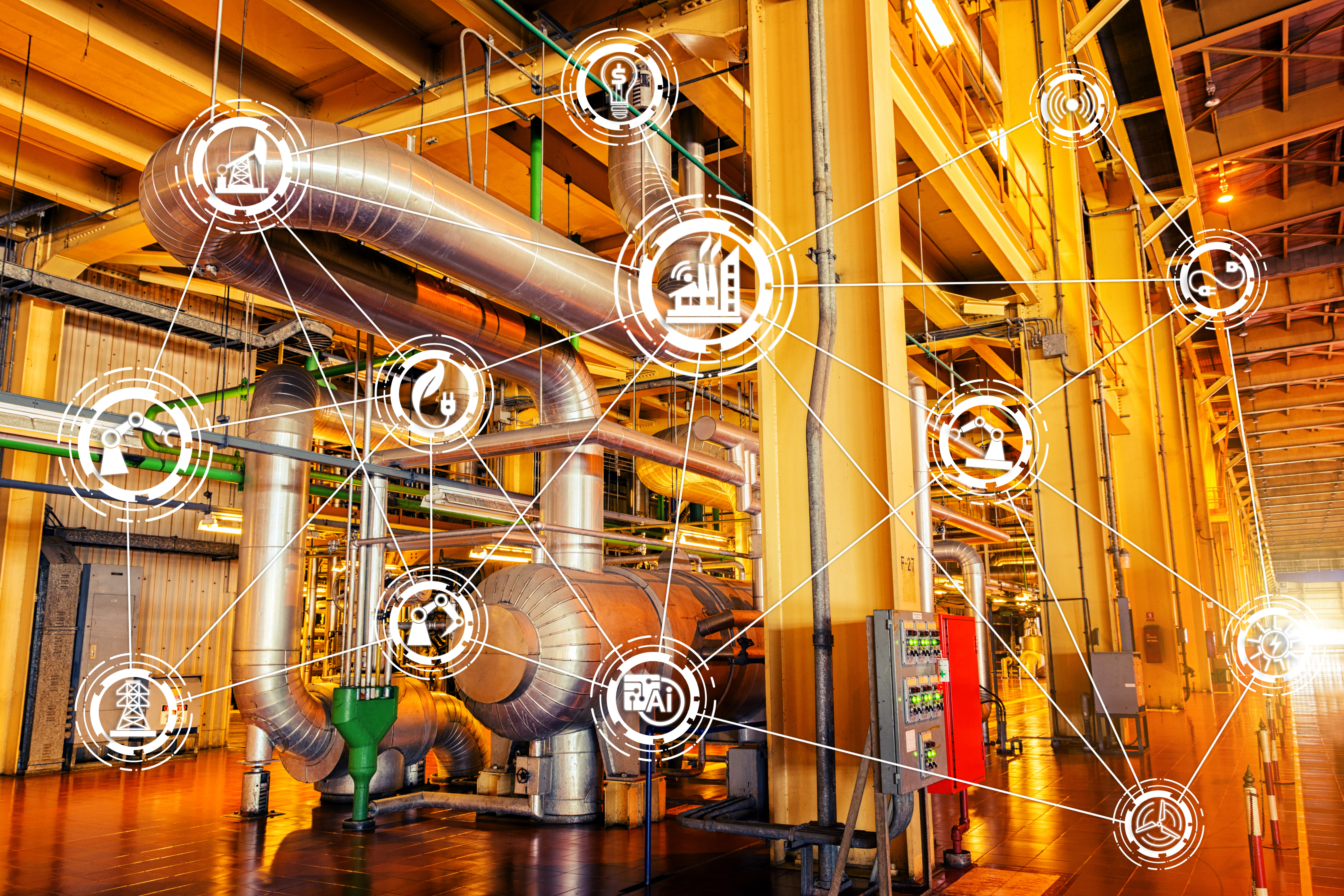 IIoT concept factory condition monitoring