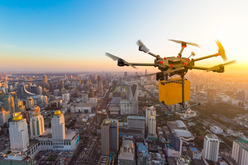 Drone cargo delivery article