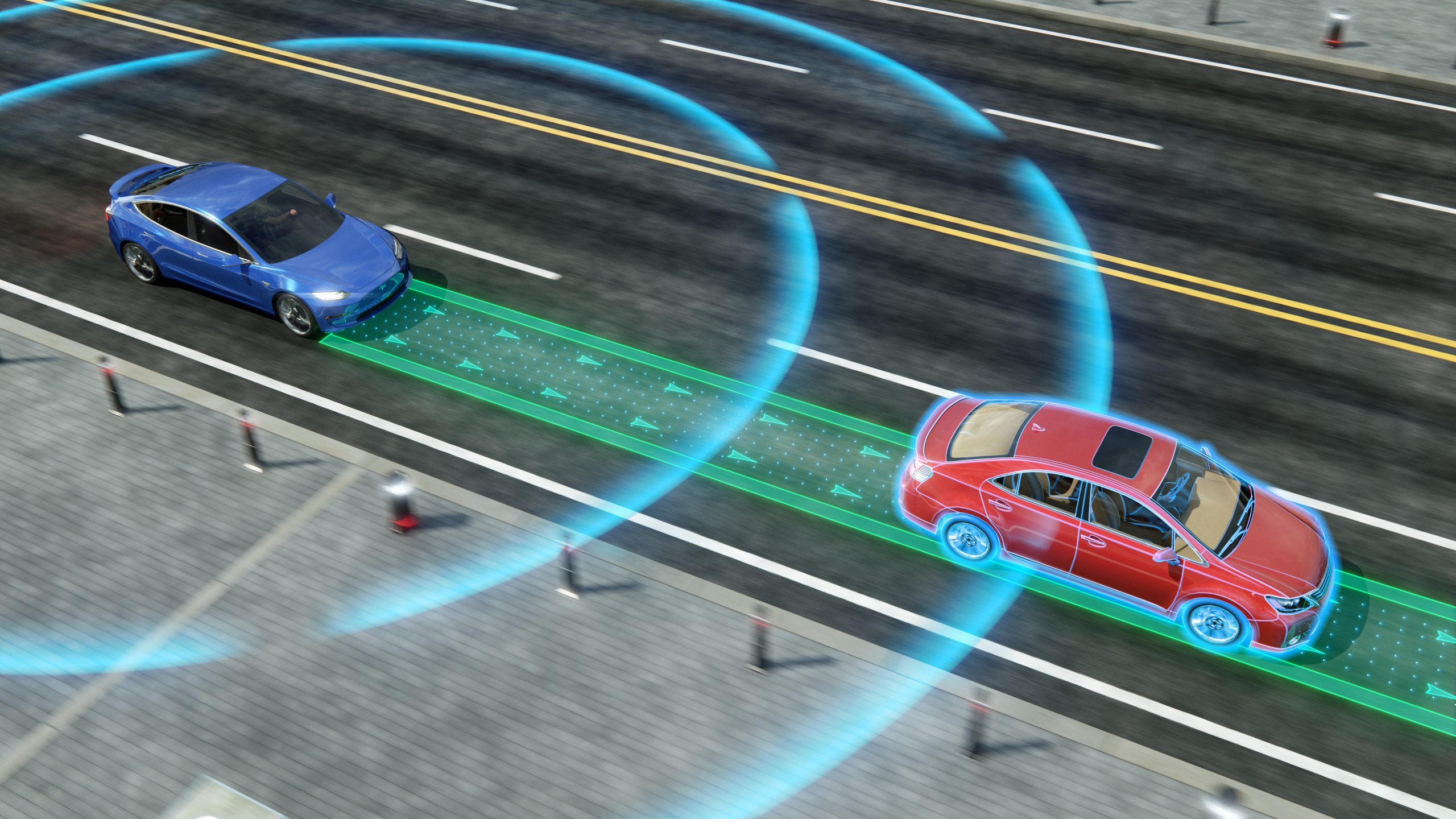 animated infographic self-driving cars stock image